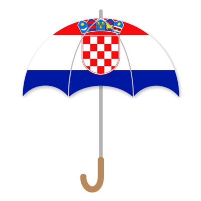 クロアチア共和国の国旗-傘
