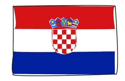 クロアチア共和国の国旗-グラフィティ