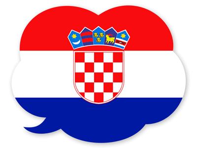クロアチア共和国の国旗-吹き出し