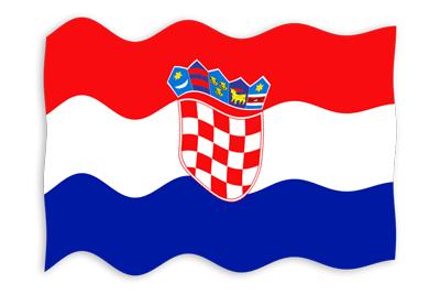 クロアチア共和国の国旗-波