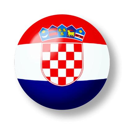 クロアチア共和国の国旗-ビー玉