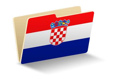 クロアチア共和国の国旗-フォルダ