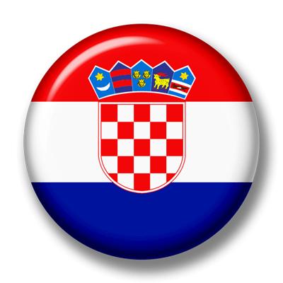 クロアチア共和国の国旗-缶バッジ