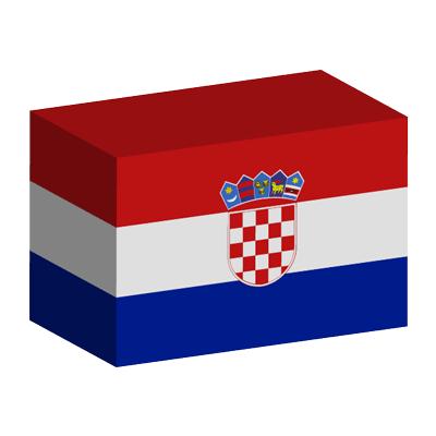クロアチア共和国の国旗-積み木