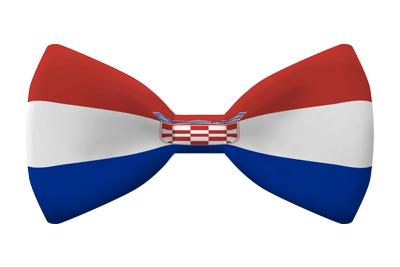 クロアチア共和国の国旗-蝶タイ