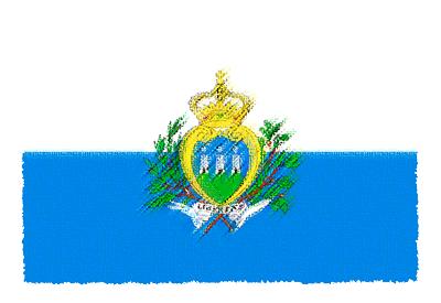 サンマリノ共和国の国旗-パステル