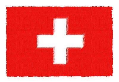 スイス連邦の国旗-パステル