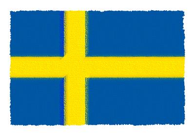 スウェーデン王国の国旗-パステル
