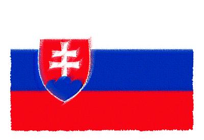 スロバキア共和国の国旗-パステル