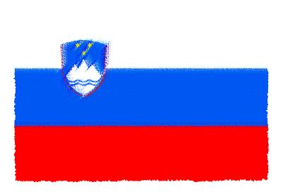 スロベニア共和国の国旗-パステル