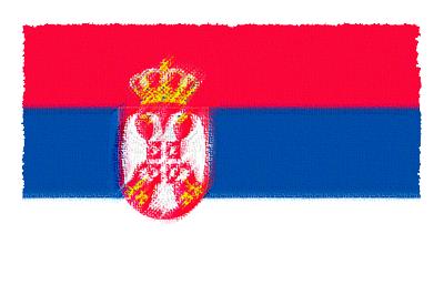 セルビア共和国の国旗-パステル