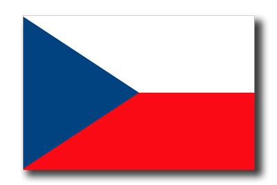 チェコ共和国の国旗-ドロップシャドウ