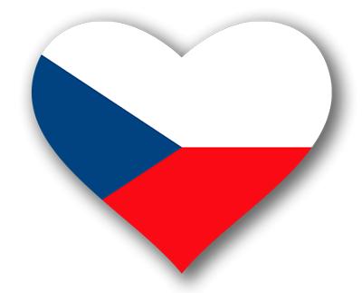 チェコ共和国の国旗-ハート
