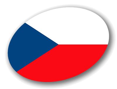 チェコ共和国の国旗-楕円