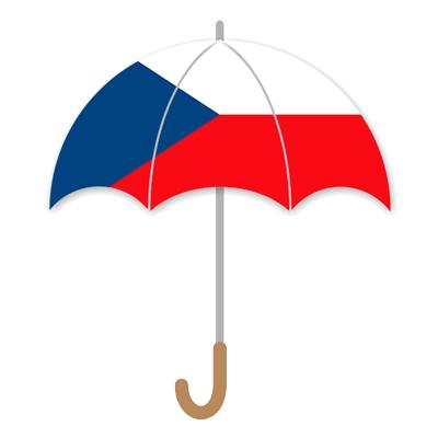 チェコ共和国の国旗-傘