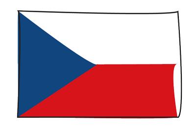 チェコ共和国の国旗-グラフィティ