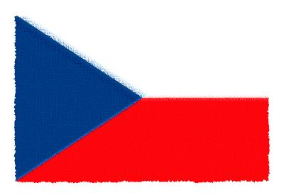 チェコ共和国の国旗-パステル