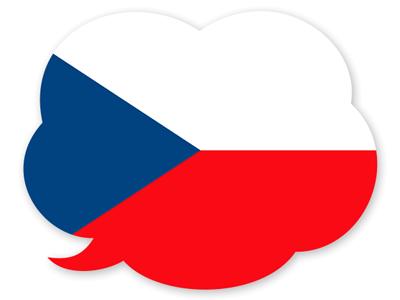 チェコ共和国の国旗-吹き出し
