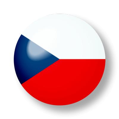 チェコ共和国の国旗-ビー玉