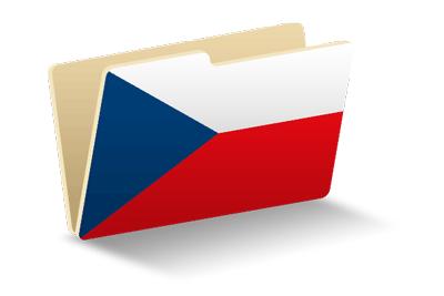 チェコ共和国の国旗-フォルダ