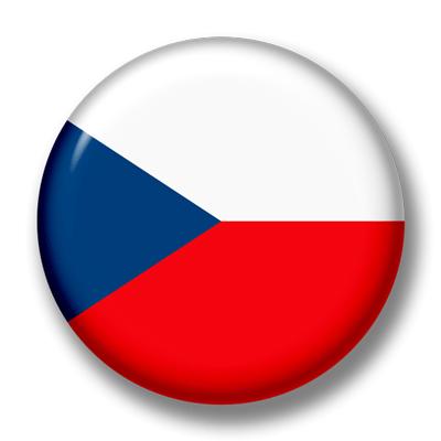 チェコ共和国の国旗-缶バッジ
