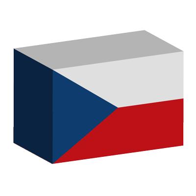 チェコ共和国の国旗-積み木