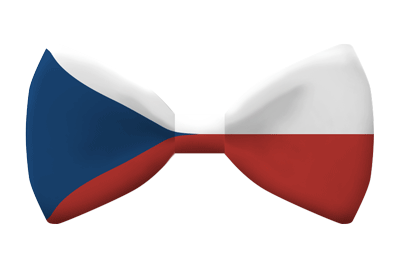 チェコ共和国の国旗-蝶タイ
