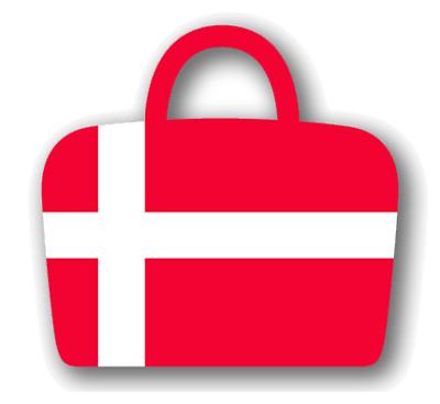 デンマーク王国の国旗-バッグ