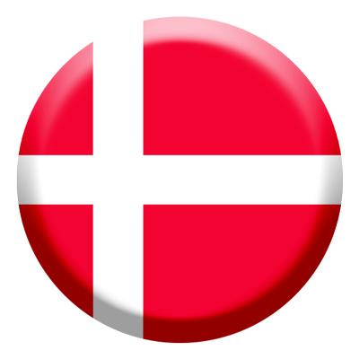 デンマーク王国の国旗-コイン