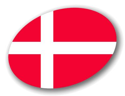 デンマーク王国の国旗-楕円