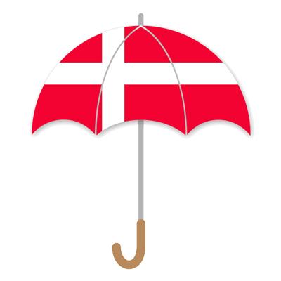 デンマーク王国の国旗-傘