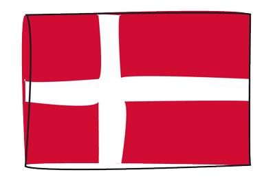デンマーク王国の国旗-グラフィティ