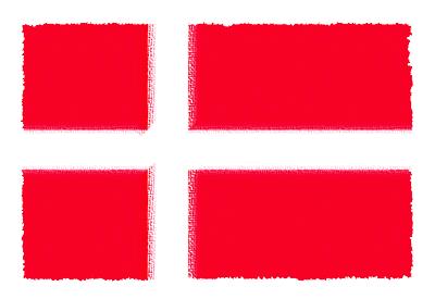 デンマーク王国の国旗-パステル
