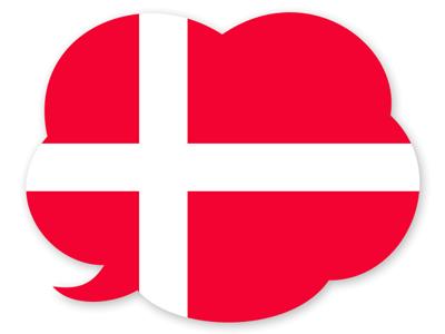 デンマーク王国の国旗-吹き出し