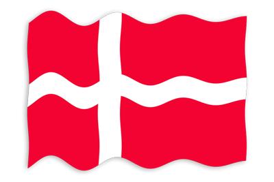 デンマーク王国の国旗-波