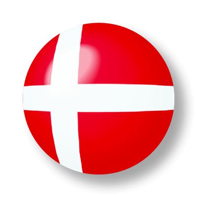 デンマーク王国の国旗-ビー玉