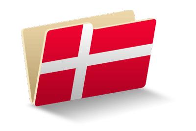 デンマーク王国の国旗-フォルダ