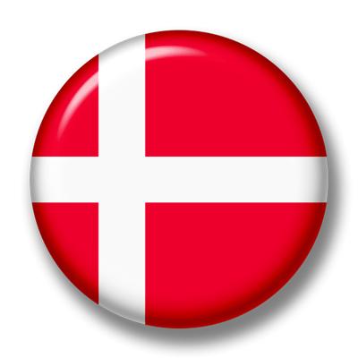 デンマーク王国の国旗-缶バッジ