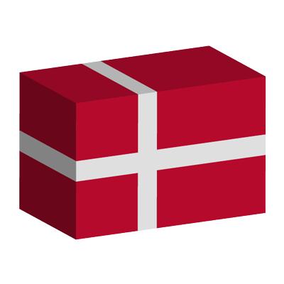 デンマーク王国の国旗-積み木