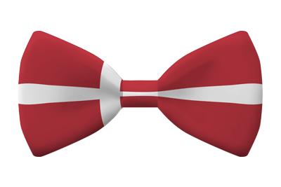 デンマーク王国の国旗-蝶タイ