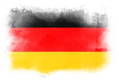 ドイツ連邦共和国の国旗-水彩風