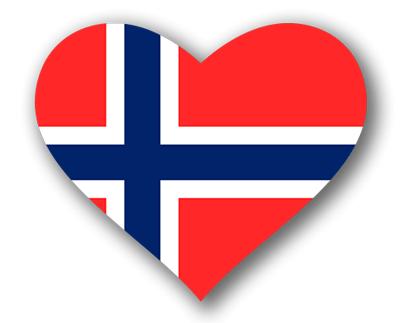 ノルウェー王国の国旗-ハート