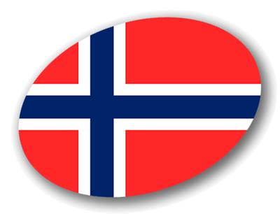 ノルウェー王国の国旗-楕円