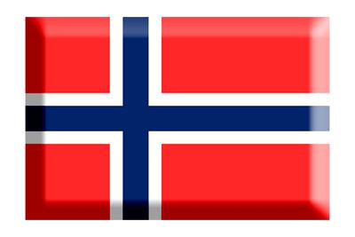 ノルウェー王国の国旗-板チョコ