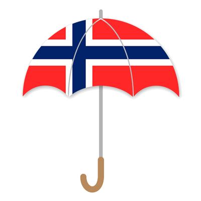 ノルウェー王国の国旗-傘