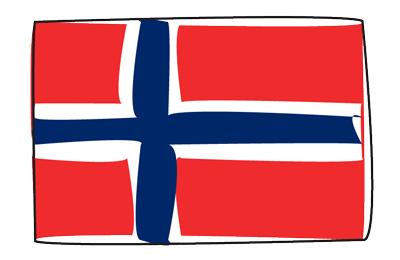 ノルウェー王国の国旗-グラフィティ