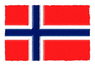 ノルウェー王国の国旗-パステル
