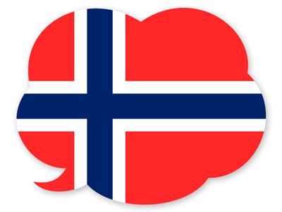 ノルウェー王国の国旗-吹き出し