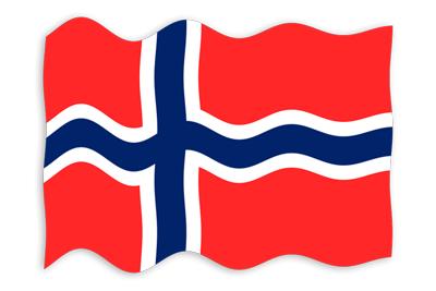 ノルウェー王国の国旗-波