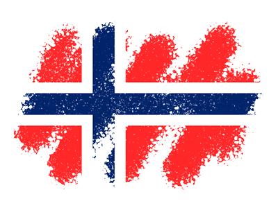 ノルウェー王国の国旗-クレヨン1
